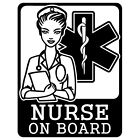 NURSE ON BOARD EMS EMT DOCTOR STAR OF LIFE EMERGENCY VINYL DECAL STICKER (E-04)