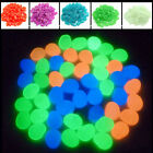 100 Pcs multi color Glow in the dark stones pebbles Rock for FISH TANK AQUARIUM