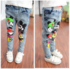 New Mickey Mouse Boys Micky Denim Skinny Casual Bottom Pants Trousers Jeans
