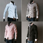 Hot Sale Stylish Mens Long Sleeve Slim Fit Casual Formal Dress Shirt Tops S~XL