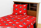 Georgia Bulldogs Sheet Set Twin Full Queen King Size White or Color