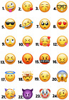 EMOTICON EMOJI ICONS IRON ON HEAT TRANSFER OR STICKER SMILEY FACE LOT EJ1