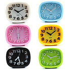 "New 4"" Fashion Oval 3D Modern Solid Color Non Ticking Ultra Silent Alarm Clock"