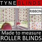 ROLLER BLINDS - RIBBON fabric range straight edge made to your exact size