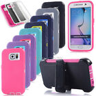 New Rugged Defender Series Armor Case + Belt Clip Holster For Various Cell Phone