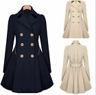 2015 Womens Slim Double Breasted Trench Coat Long Outwear Overcoat Windbreaker