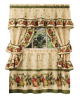 Apple Orchard Complete 5 Pc. Kitchen Curtain Tier & Swag Set - Assorted Sizes