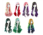 75 cm Long Fashion Lolita Curly Wavy Cosplay Anime Party Full Wig Multi-Color
