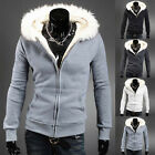Stylish Winter Warm Mens Slim Fit Hooded Hoodies Jacket Fleece Coat Overcoat New