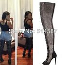WOMENS GLADIATOR WINTER COSPLAY OVER THE KNEE HIGH BOOTS SHOES PLUS  US 4-11 UK
