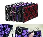 NEW Women Lady Cute Cosmetic Coin Cellphone Makeup Pouch Bag Printing Wallet HOK
