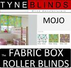 The FABRIC BOX - MOJO made to measure ROLLER BLINDS - straight edge floral