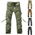 Hot Men's Casual Outdoor Military Army Cargo Combat Work Pants Cotton Trousers