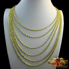 10k MEN'S WOMEN'S REAL10K YELLOW GOLD HOLLOW ROPE CHAIN NECKLACE 3MM 24~26 INCH