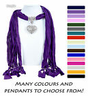 Scarf Pendant Jewellery Long Ladies Necklace Beads New Women Neck Scarves
