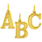 Gold Plated Upper Case Initials Charms   --    #CHM061      From  A to Z