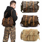SAC BANDOULIERE MESSENGER EPAULE SACOCHE CUIR DOS HOMME MILITAIRE CARTABLE