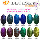 BLUESKY UVLED UV GELNAIL POLISH GLITTER COLOURS 200+ COLOURS TO CHOOSE FROM!!!