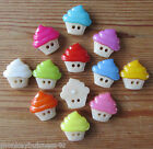 5 - Novelty Buttons - Cup Cake - 16mm - Baby/Kids/Doll's - Knitting/Sewing/Cards