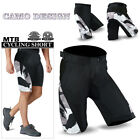 MTB Cycling Shorts Off Road Shorts Downhill Unisex Design Black/Camo M-L-XL-2XL