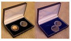 Deluxe Leatherette Display Case for 2 UK CROWNS / £5 or 1 oz Britannia Coins