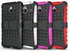 Microsoft Lumia 640 XL Dual Layer Shockproof Cover Hybrid Case w/ Kickstand