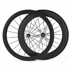 23mm Wide Carbon Fiber Wheelset 50mm+80mm Clincher Road Bicycle Racing Wheels