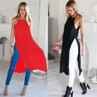 HOT Women's Loose Chiffon Semi Sheer Tops Long T Shirt Dress Casual Blouse WIN