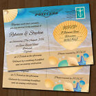 Personalised Beach Wedding Day Invitations & Envelopes *Seaside Postcard