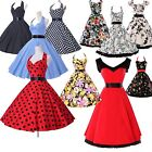 UK Clearance FAST~ NEW RETRO VINTAGE STYLE 50s 60s ROCKABILLY SWING FLORAL DRESS