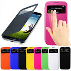 Flip PU Leather Skin Case Cover Smart Wake View For Samsung Galaxy S4 SIV i9500