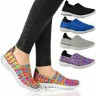 NEW WOMENS LADIES TRAINERS WOVEN ELASTICATED STRETCH GYM PUMPS SPORT SHOES SIZE