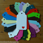 Tag Die Cuts - Lg Scallop Tag w/Heart Aperture - Wedding - Favour/Birth/Gifts