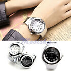 Fashion Womens Silver-tone Bracelet Bangle Sports Quartz Alloy Metal Wrist Watch