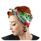 Flamingo Bandana, Tropical headscarf, Rockabilly Bandana, Hawaiiian style scarf