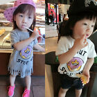New 2015 Girls Toddler Donut Baby Fringe Top Blouse Cute T Shirt TShirt  1.5-6T