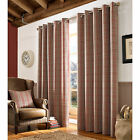 Archie Tartan Curtains – Red & Beige Ring Top Lined Curtain Pair