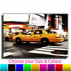 New York Taxi Single Canvas Wall Art Picture Print 29