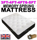 MEMORY SPRING MATTRESS 3FT SINGLE 4FT6 DOUBLE 5FT