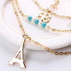 New Charm Pearl Multilayer Necklace Heart Pendant Long Chain