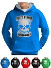 Skull Hoodie Death Before Dishonour Top Kids Semi Gamer Goth Horror Boys Girls
