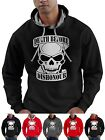 Skull Hoodie Death Before Dishonour Semi Gamer Goth Horror Smartphone Compatable