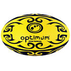 Optimum Tribal Ball Yellow/Black Rugby Ball Training Quality Durable Rubber
