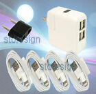 2.1A 4 Port USB Travel Outlet AC Power Plug Adapter Converter USA to European