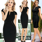 Office Lady Slim fit Bodycon Party Wear to Work Pencil Dress Plus Size S~2XL