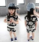 New Girl Toddler Children Shirt Kid Short Clothing Outfit Top Pant Clothing Set