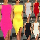 Candy Color New Celeb Ladies Bodycon Pencil Cocktail Evening Party Mini Dress