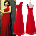 PLUS SIZE 22 24 26 Long Chiffon Bridesmaid Wedding Evening Prom Gown Party Dress