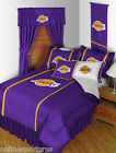 Los Angeles Lakers Comforter Bedskirt Sham Pillowcase Valance Twin to King Size