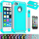 best iphone protection cases - Heavy Duty Best Impact Protective Hard Matte Case Cover for iPhone 4G 4S + Film